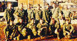 1st Platoon EM, May 1967, Front row: John Calvacca, Larry Smith, Peter Perez, John Lynch, Jerry Tippett, Don Profitt, Back row: Tom Knapp, Dennis Newton, Stan Larson, Marshall Ratliff, Richard Powell, John Cervinski, SSGT Larry Lackey