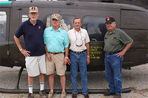Ron Seabolt, Chuck Carlock, Doug Hopkins and Paul Beverung at Mineral Wells dedication