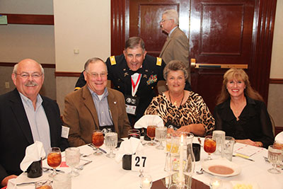 Jim Collins, Bruce Kelly, Jerry Richardson, Adair Kelly and Deb Collins