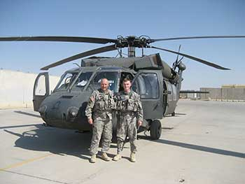 Tim and Ben Kelly - father & son together in Iraq